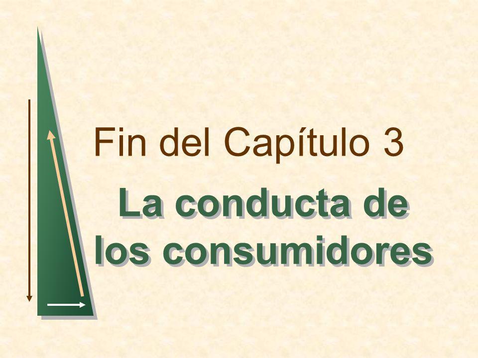 Fin del Capítulo 3 La conducta de los consumidores