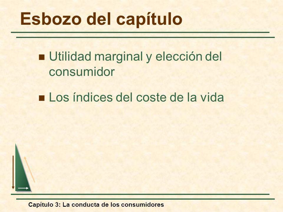Capítulo 3: La conducta de los consumidores Esbozo del capítulo Utilidad marginal y elección del consumidor Los índices del coste de la vida