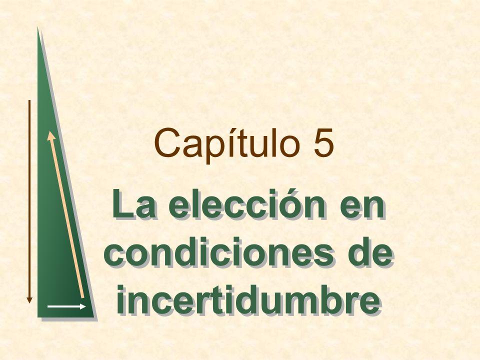 Capítulo 5 La elección en condiciones de incertidumbre