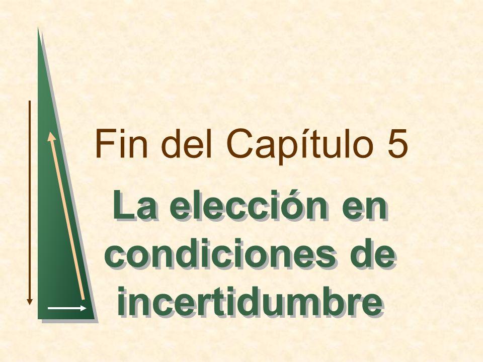 Fin del Capítulo 5 La elección en condiciones de incertidumbre
