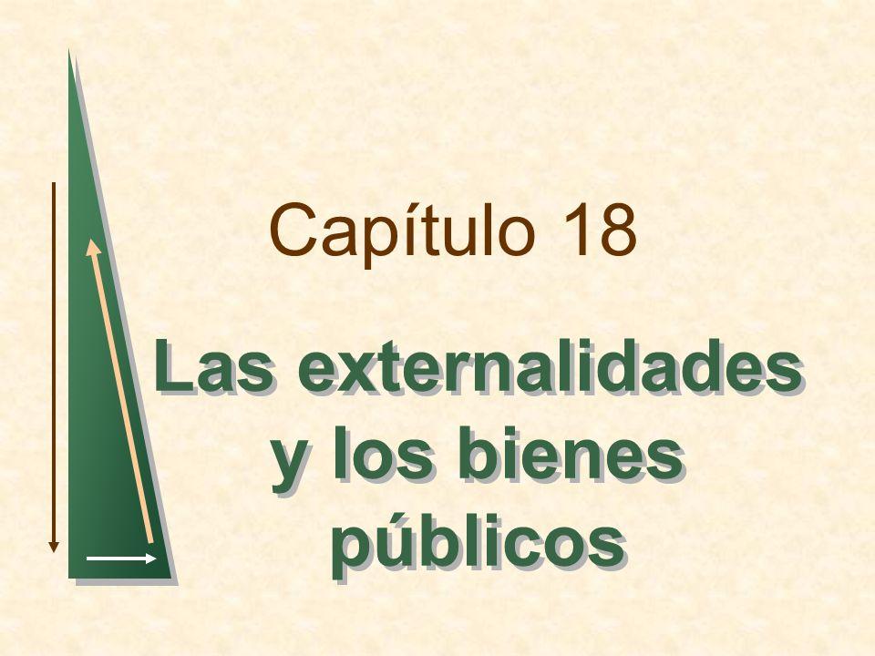 Capítulo 18 Las externalidades y los bienes públicos