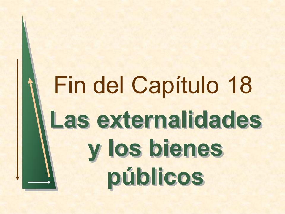 Fin del Capítulo 18 Las externalidades y los bienes públicos