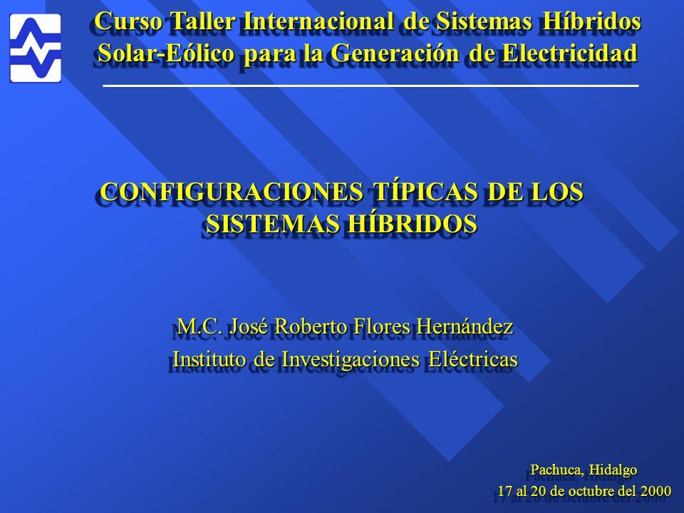 CONFIGURACIONES TÍPICAS DE LOS SISTEMAS HÍBRIDOS M.C.