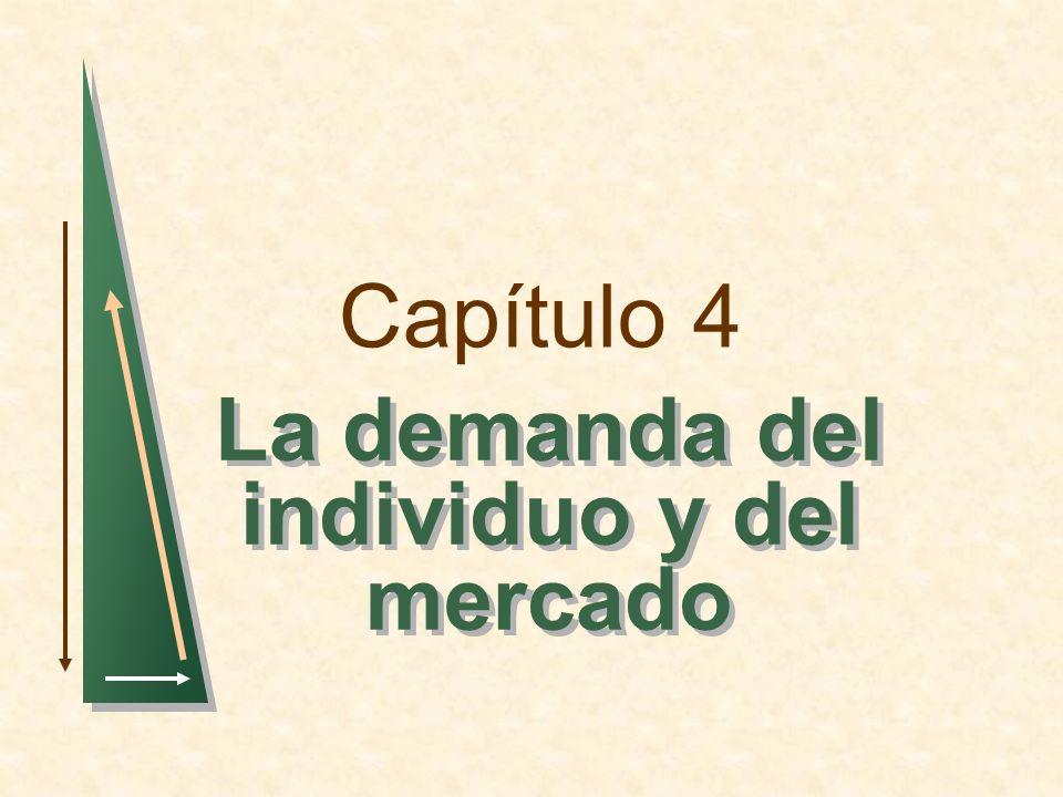Capítulo 4 La demanda del individuo y del mercado
