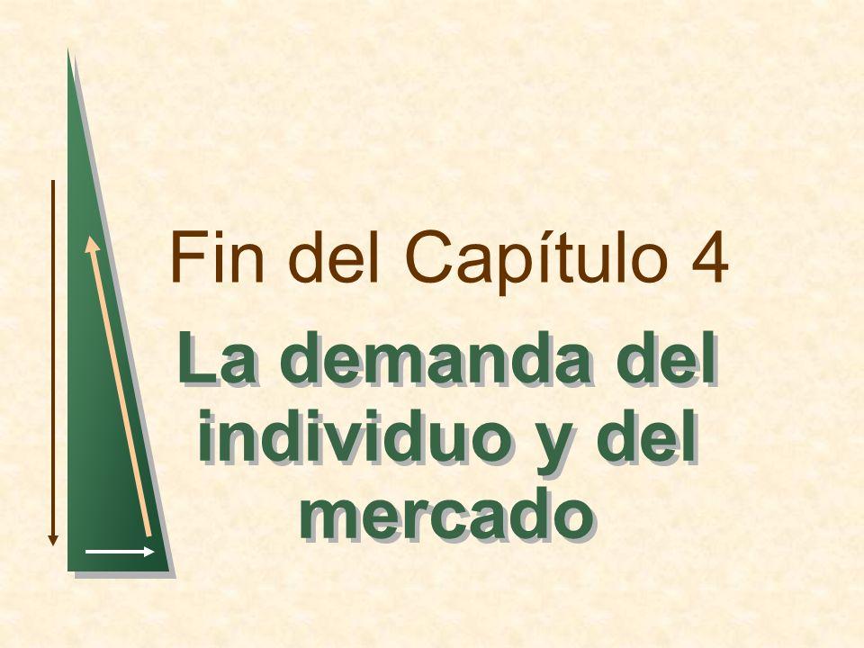 Fin del Capítulo 4 La demanda del individuo y del mercado
