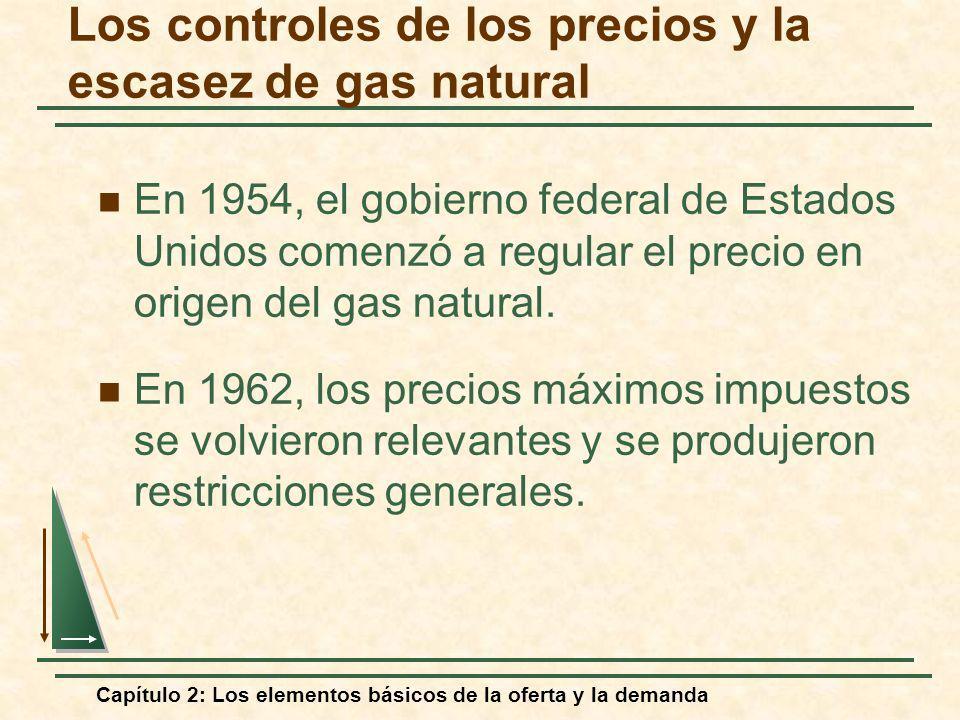 Capítulo 2: Los elementos básicos de la oferta y la demanda Los controles de los precios y la escasez de gas natural En 1954, el gobierno federal de E