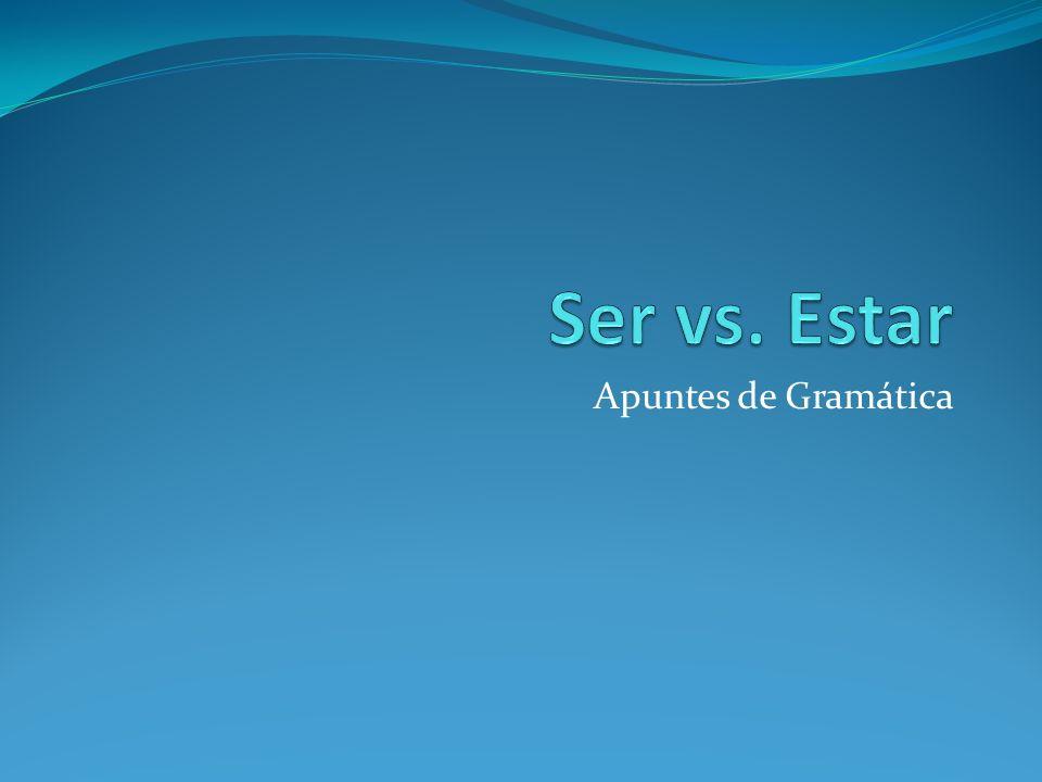 Ser: Conjugación Ser significa to be Yo soyNosotros/as somos Tú eresVosotros/as sois Él/Ella/Usted esEllos/Ellas/Ustedes son