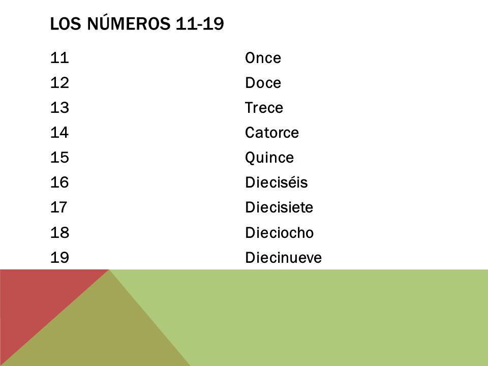 LOS NÚMEROS 20-29 20Veinte 21Veintiuno 22Veintidós 23Veintitrés 24Veinticuatro 25Veinticinco 26Veintiséis 27Veintisiete 28Veintiocho 29Veintinueve
