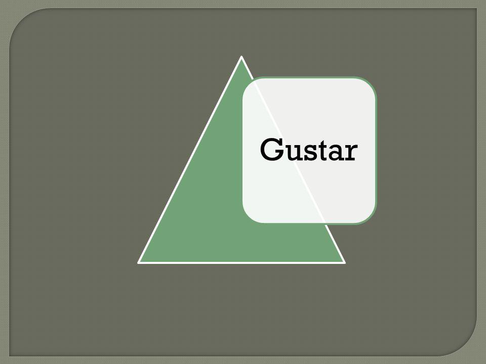 Gustar: Una Definición Gustar significa to be pleasing to someone (A mí) me gusta(A nosotros/as) nos gusta (A ti) te gusta(A vosotros/as) os gusta (A él/ella/ud.) le gusta(A ellos/ellas/uds.) les gusta