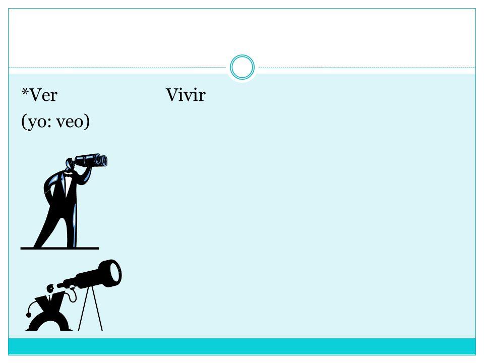 *VerVivir (yo: veo)