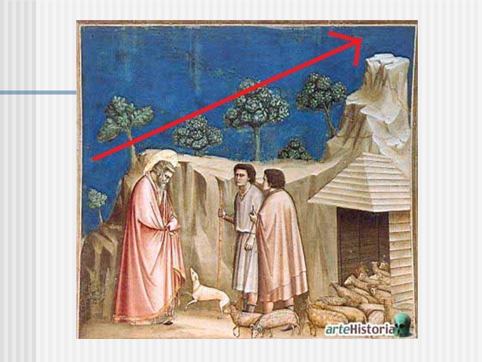 El Color y la luz: Es un fresco pintado sobre pared, no se usa el fondo de oro, utiliza Un fondo de cielo azul oscuro, Giotto contaba de imaginacion, por Lo tanto no uso el clasico color negro, sin embargo utiliza el azul Con la misma funcion que el negro, resalta los colores restantes, Marca el claroscuro.