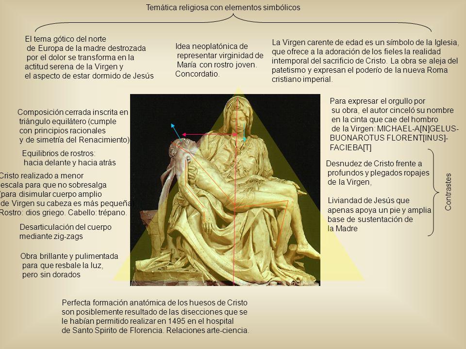 Idea neoplatónica de representar virginidad de María con rostro joven. Concordatio. La Virgen carente de edad es un símbolo de la Iglesia, que ofrece