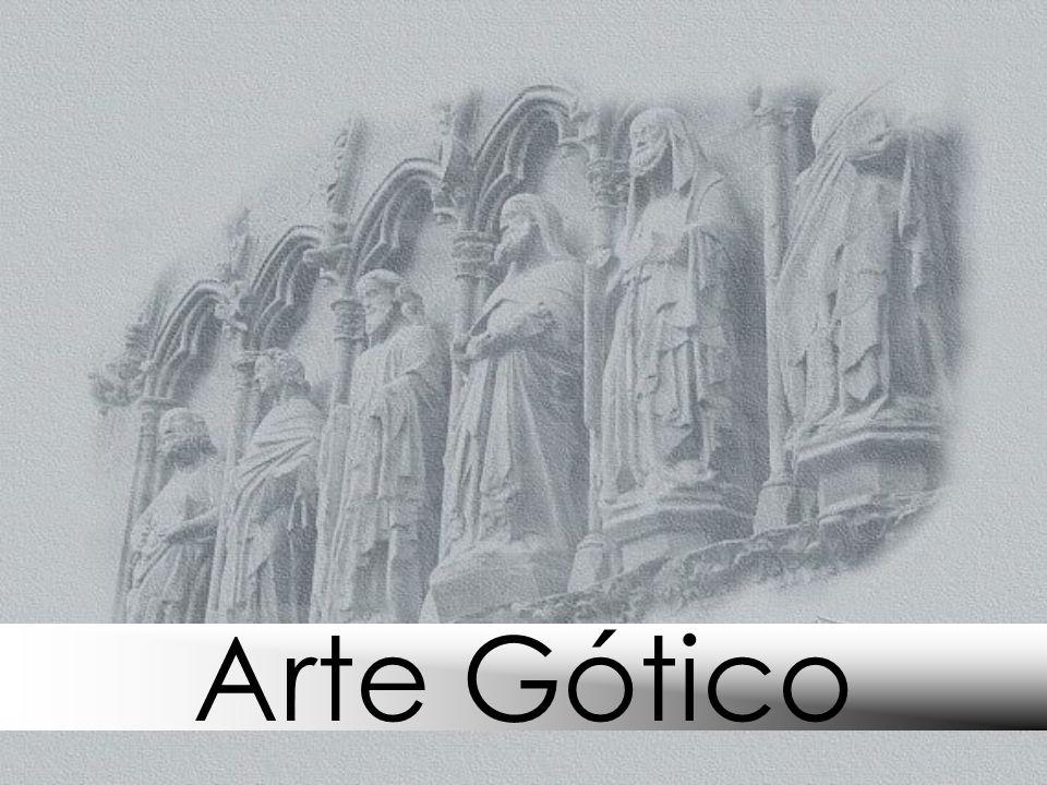 Elementos fundamentales de la Arquitectura Gótica Bóvedas Bóveda de crucería (de ojiva): Tiene arcos ojivales y es ligera (dos ojivas entrecruzadas dan lugar a cuatro plementos o entrepaños – bóveda cuatripartita).