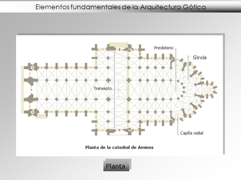 Elementos fundamentales de la Arquitectura Gótica Alzados y Vidrieras