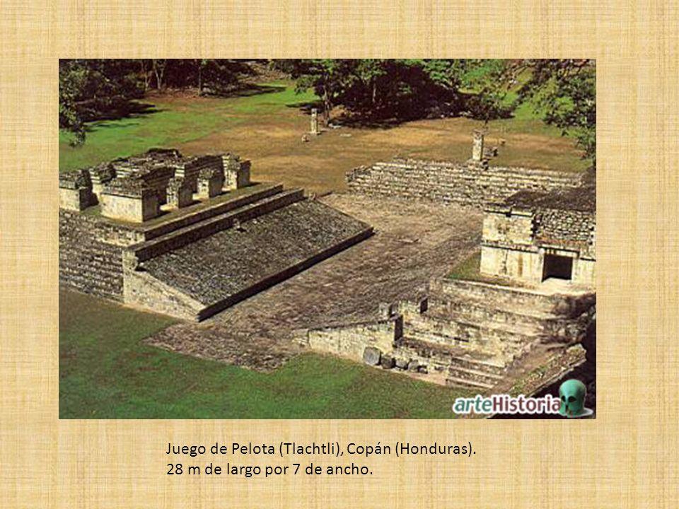 Juego de Pelota (Tlachtli), Copán (Honduras). 28 m de largo por 7 de ancho.