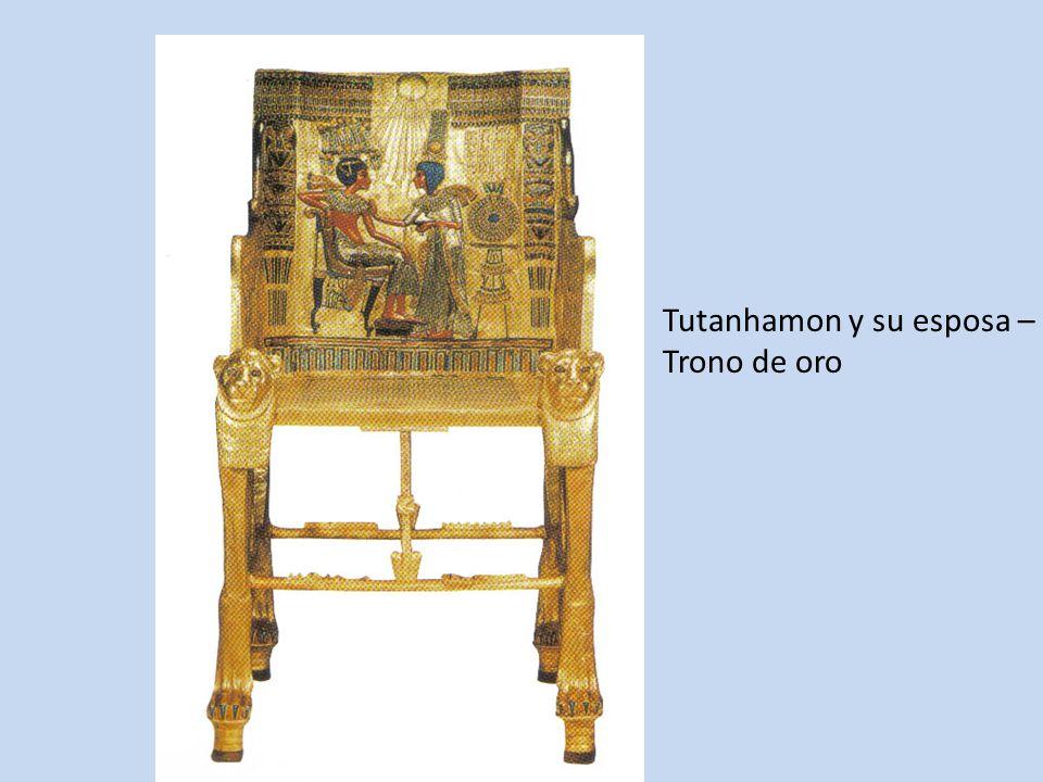 Tutanhamon y su esposa – Trono de oro
