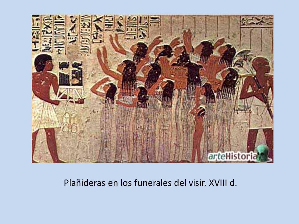Plañideras en los funerales del visir. XVIII d.
