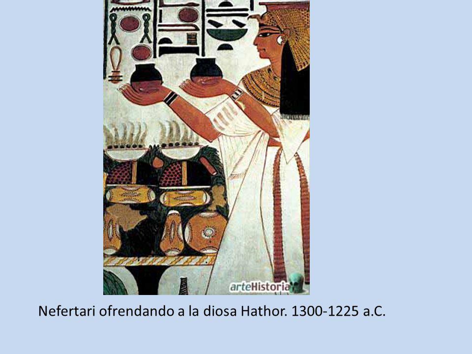 Nefertari ofrendando a la diosa Hathor. 1300-1225 a.C.