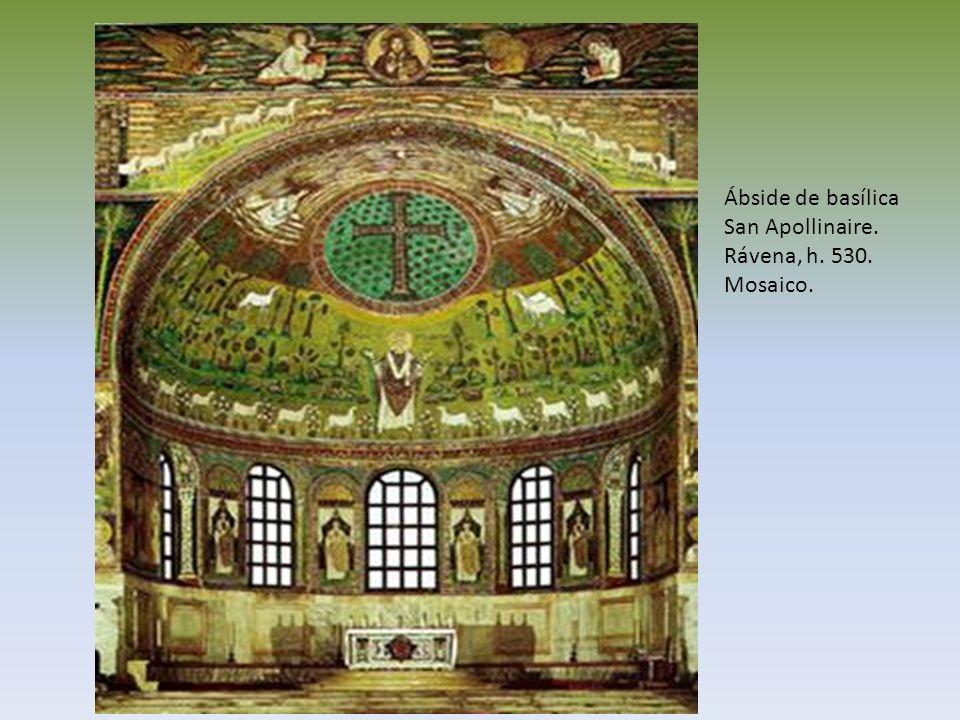 Ábside de basílica San Apollinaire. Rávena, h. 530. Mosaico.