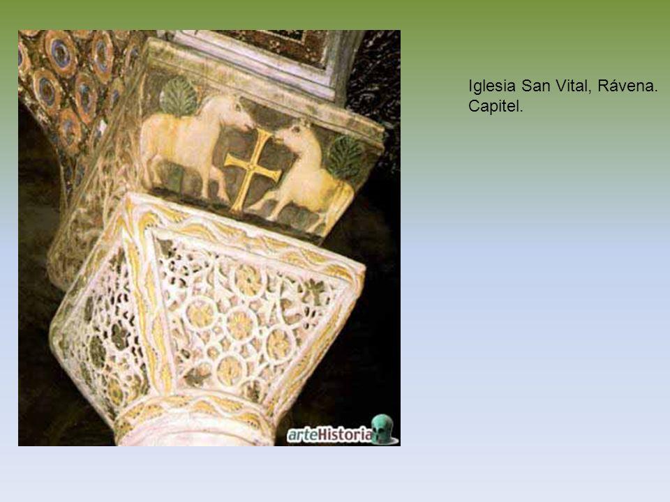 Iglesia San Vital, Rávena. Capitel.