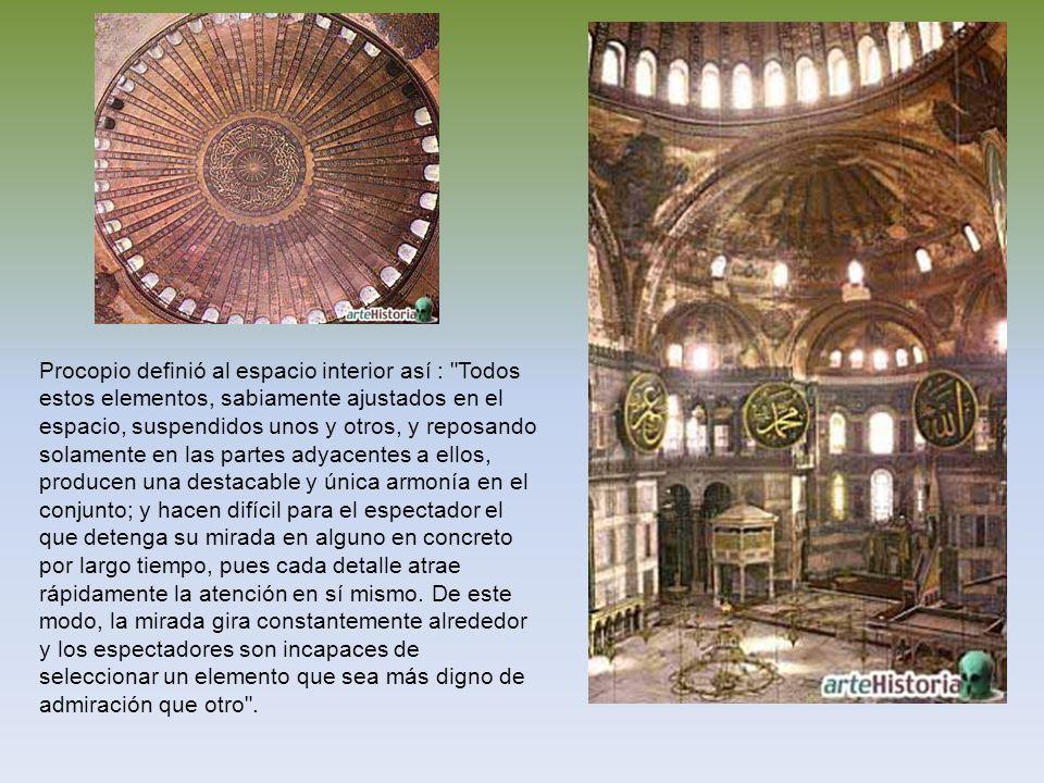 Procopio definió al espacio interior así :