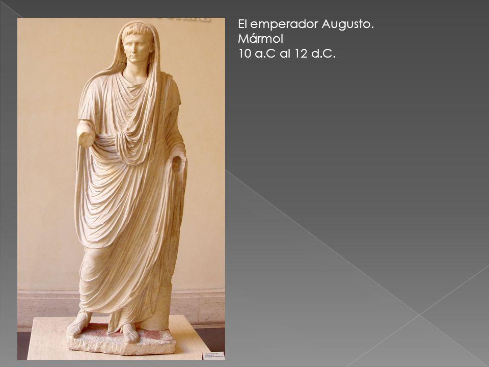 El emperador Augusto. Mármol 10 a.C al 12 d.C.