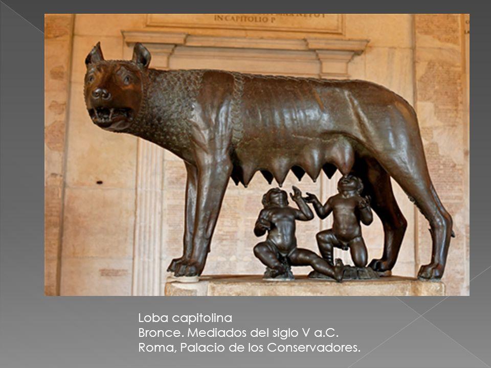 Loba capitolina Bronce. Mediados del siglo V a.C. Roma, Palacio de los Conservadores.