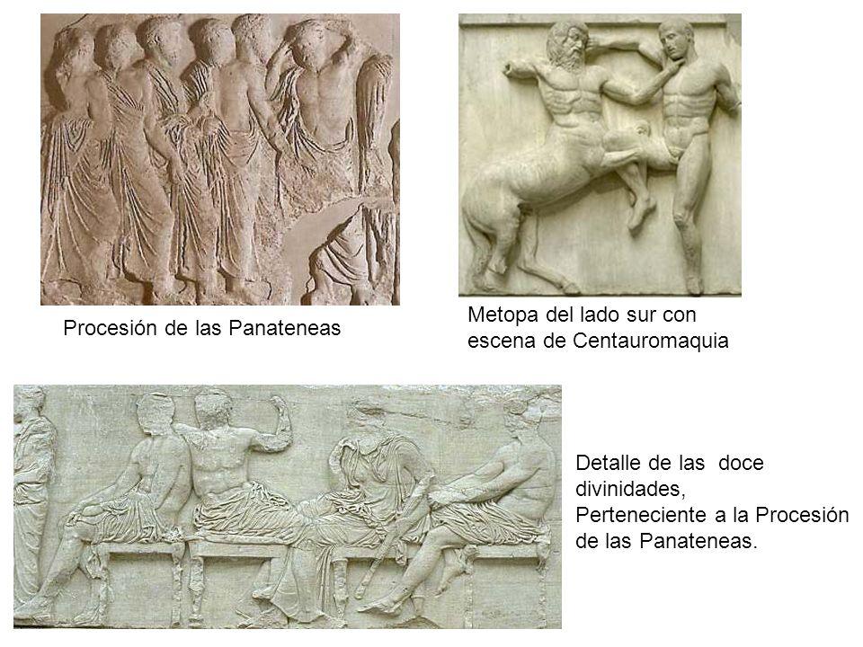 Procesión de las Panateneas Detalle de las doce divinidades, Perteneciente a la Procesión de las Panateneas. Metopa del lado sur con escena de Centaur
