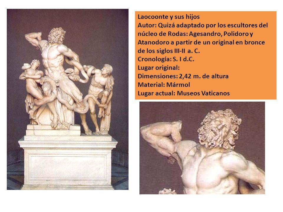 Laocoonte y sus hijos Autor: Quizá adaptado por los escultores del núcleo de Rodas: Agesandro, Polidoro y Atanodoro a partir de un original en bronce