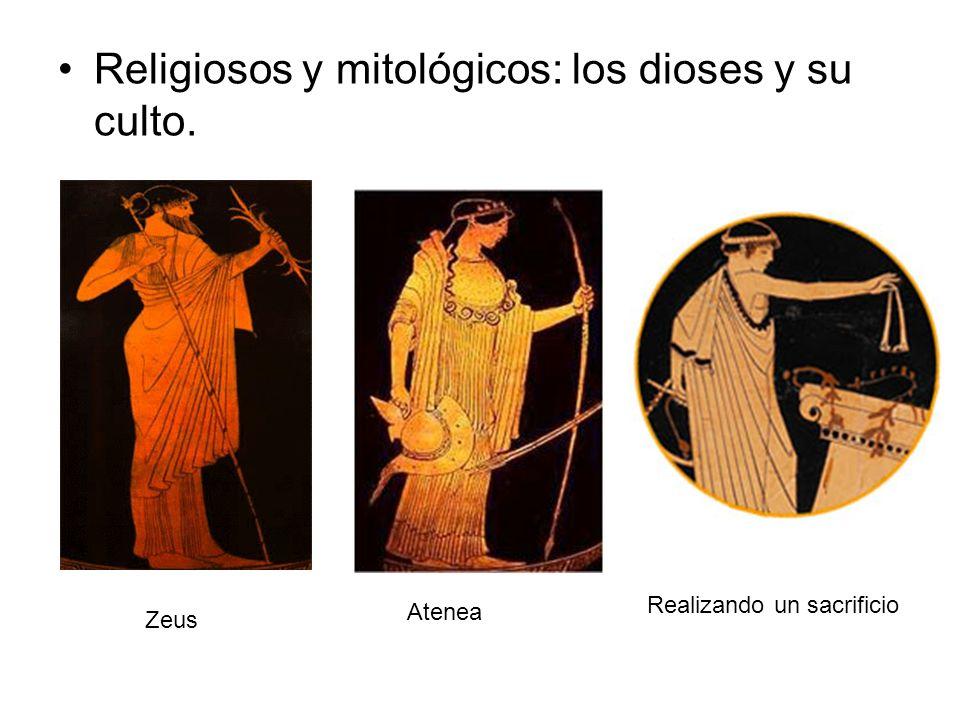 Religiosos y mitológicos: los dioses y su culto. Zeus Atenea Realizando un sacrificio