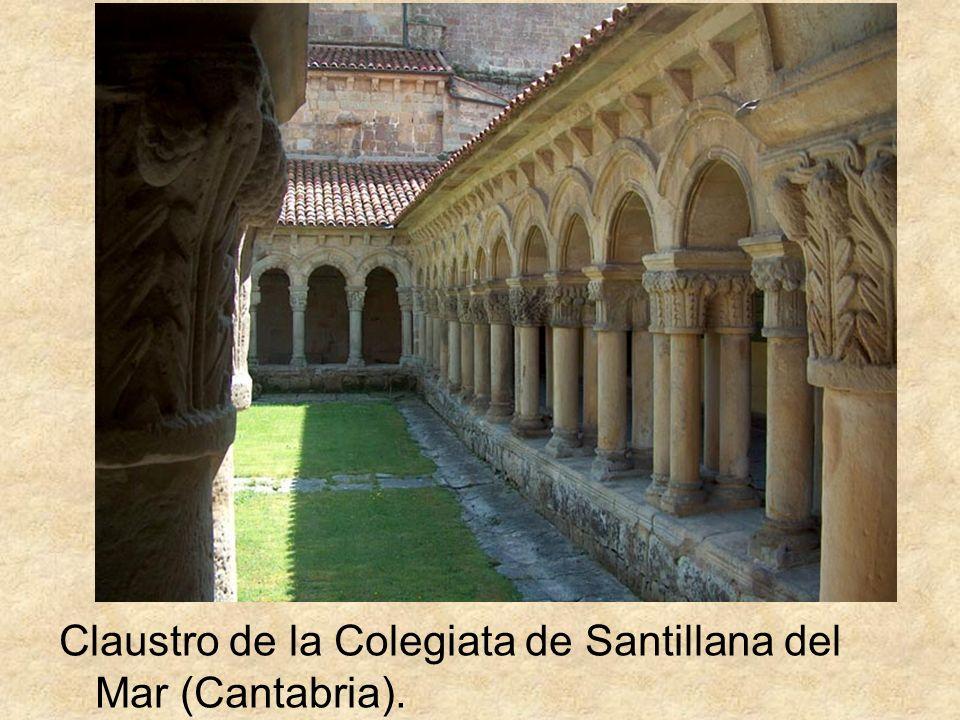 Claustro de la Colegiata de Santillana del Mar (Cantabria).