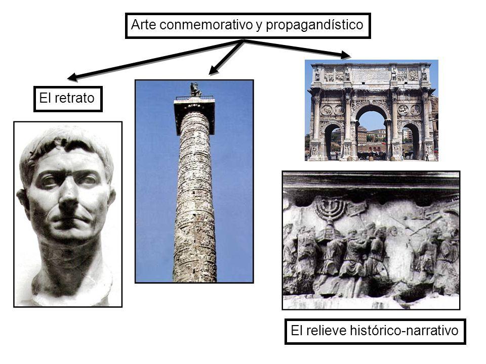 El retrato El relieve histórico-narrativo Arte conmemorativo y propagandístico