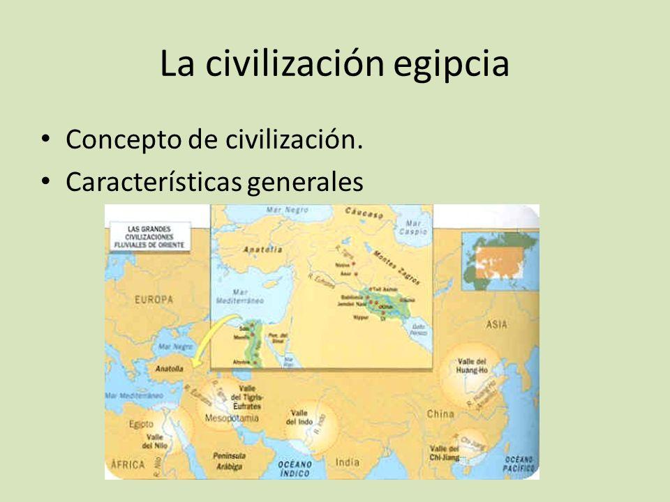 La civilización egipcia Concepto de civilización. Características generales