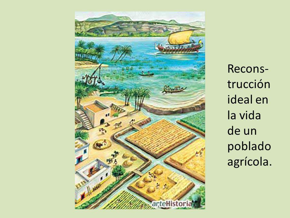 Recons- trucción ideal en la vida de un poblado agrícola.