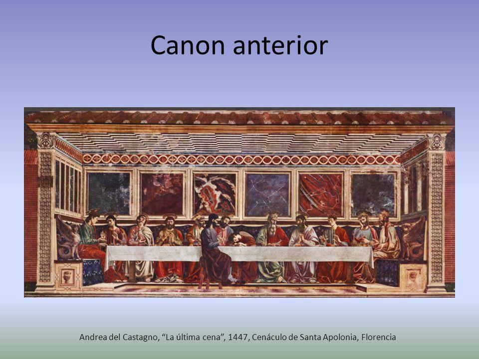 Canon anterior Andrea del Castagno, La última cena, 1447, Cenáculo de Santa Apolonia, Florencia