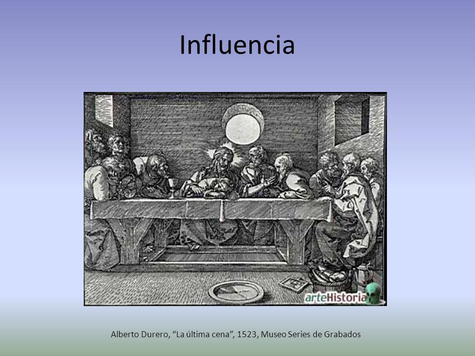 Influencia Alberto Durero, La última cena, 1523, Museo Series de Grabados