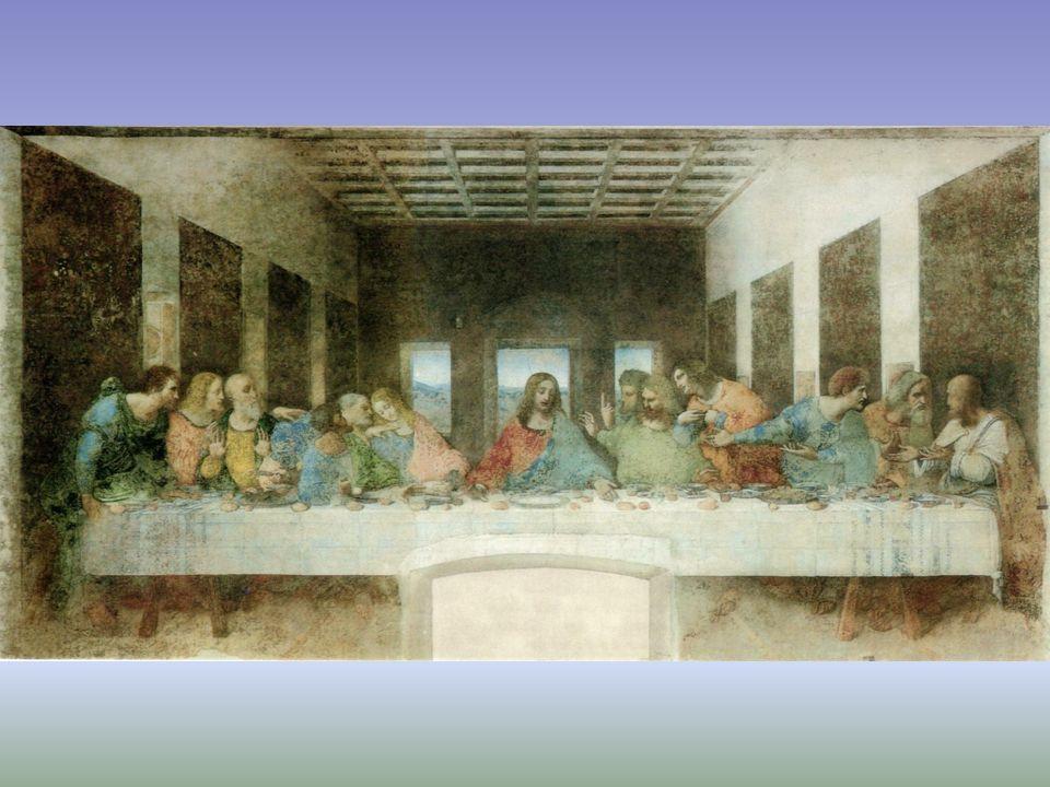 Pintura figurativa: escena religiosa Tema: momento en que Jesucristo anuncia que uno de sus apóstoles lo traicionará.