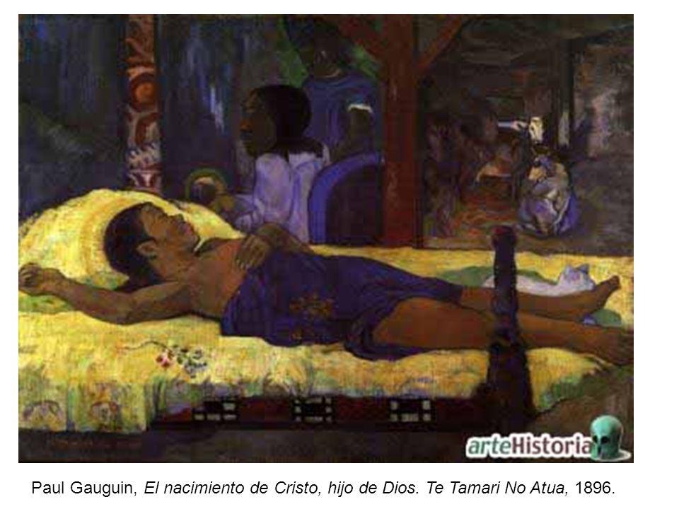 Paul Gauguin, El nacimiento de Cristo, hijo de Dios. Te Tamari No Atua, 1896.