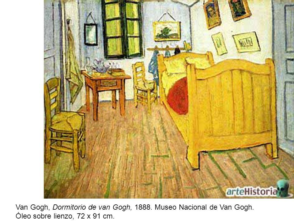 Van Gogh, Dormitorio de van Gogh, 1888. Museo Nacional de Van Gogh. Óleo sobre lienzo, 72 x 91 cm.
