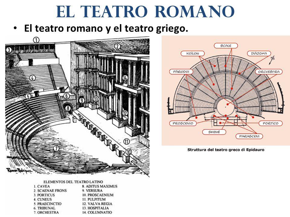 El teatro romano y el teatro griego. el teatro romano