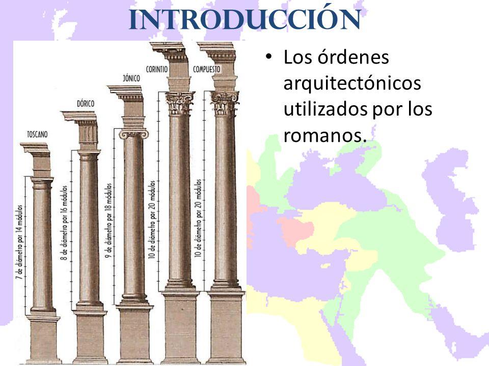 Los órdenes arquitectónicos utilizados por los romanos. Introducción