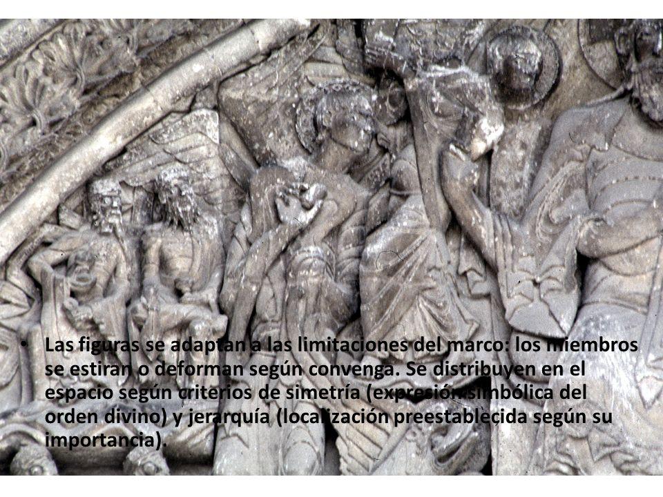 La unidad compositiva de la escena se construye a partir de las miradas de los todos los personajes, que convergen en la figura de Cristo.