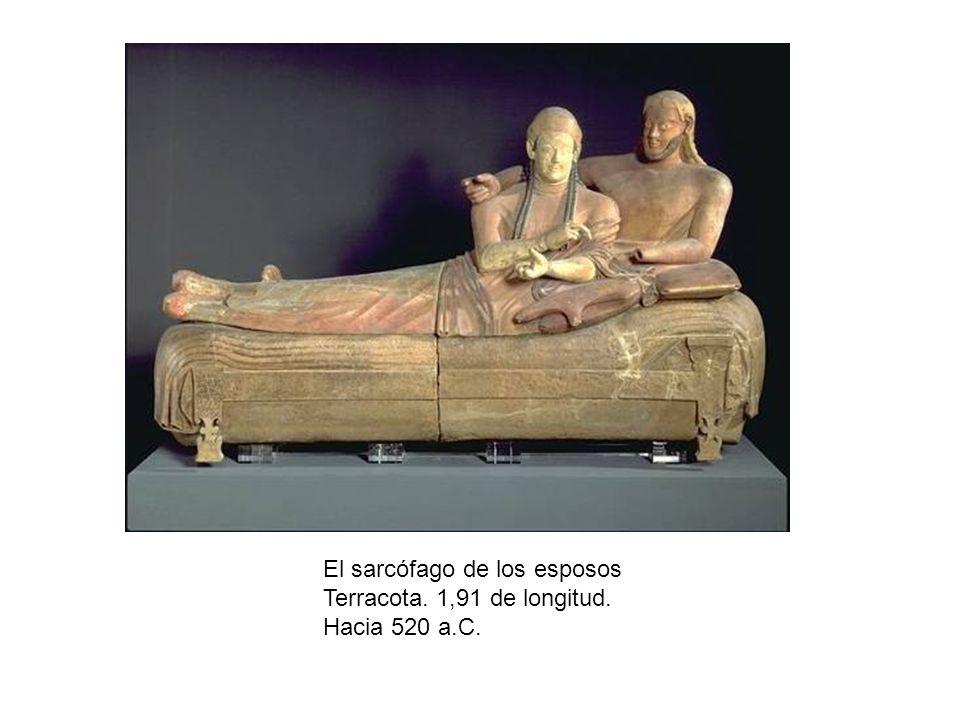 El sarcófago de los esposos Terracota. 1,91 de longitud. Hacia 520 a.C.