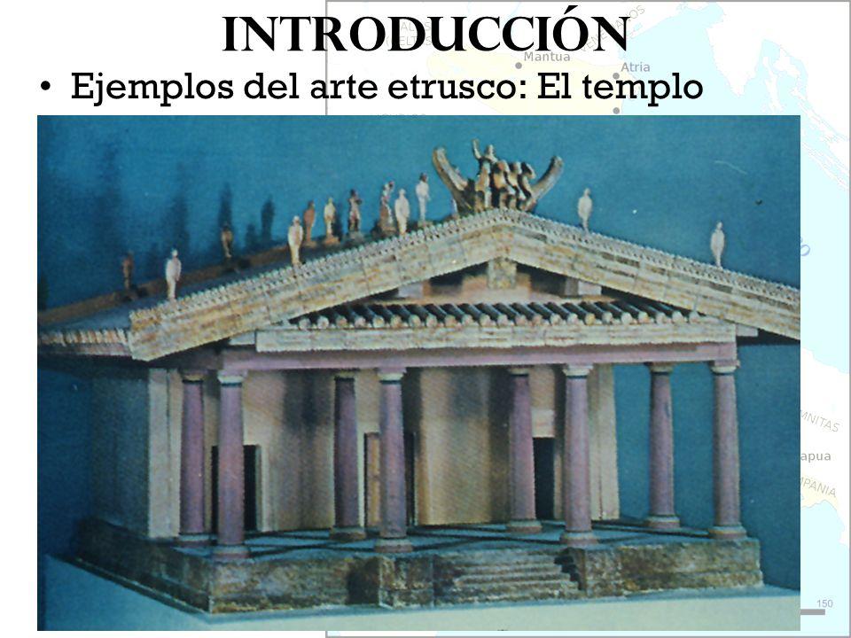 Introducción Ejemplos del arte etrusco: El templo