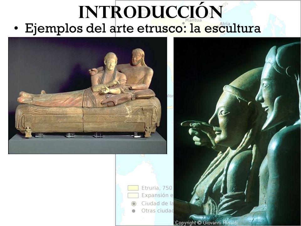 Introducción Ejemplos del arte etrusco: la escultura
