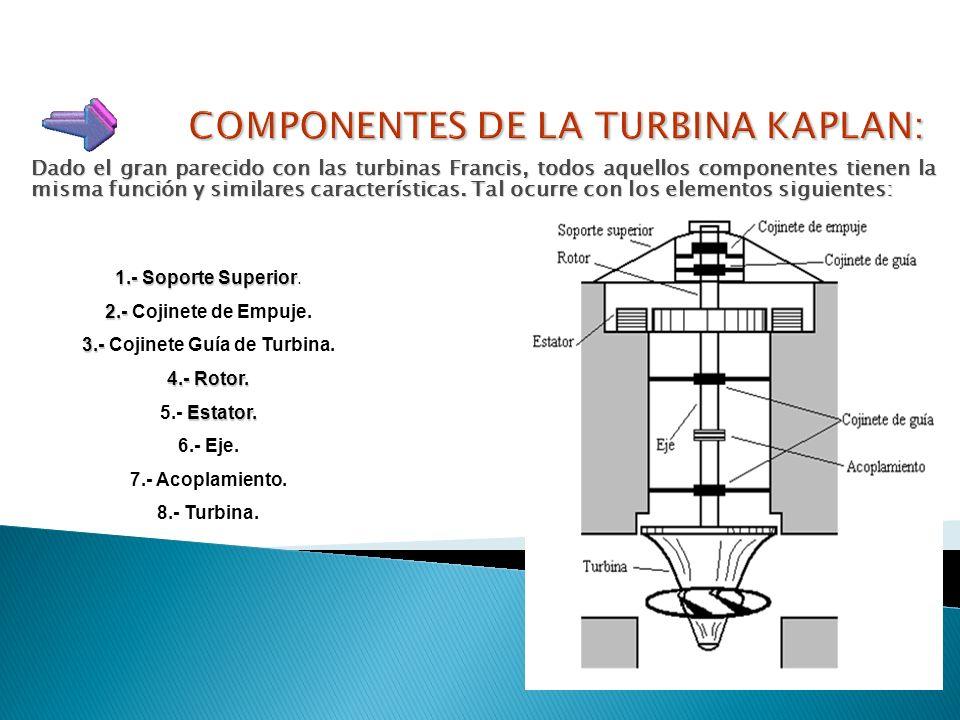 Un montaje característico de este tipo de turbinas, conjuntamente con el alternador, constituye los llamados grupos-bulbo, propios de las centrales ma