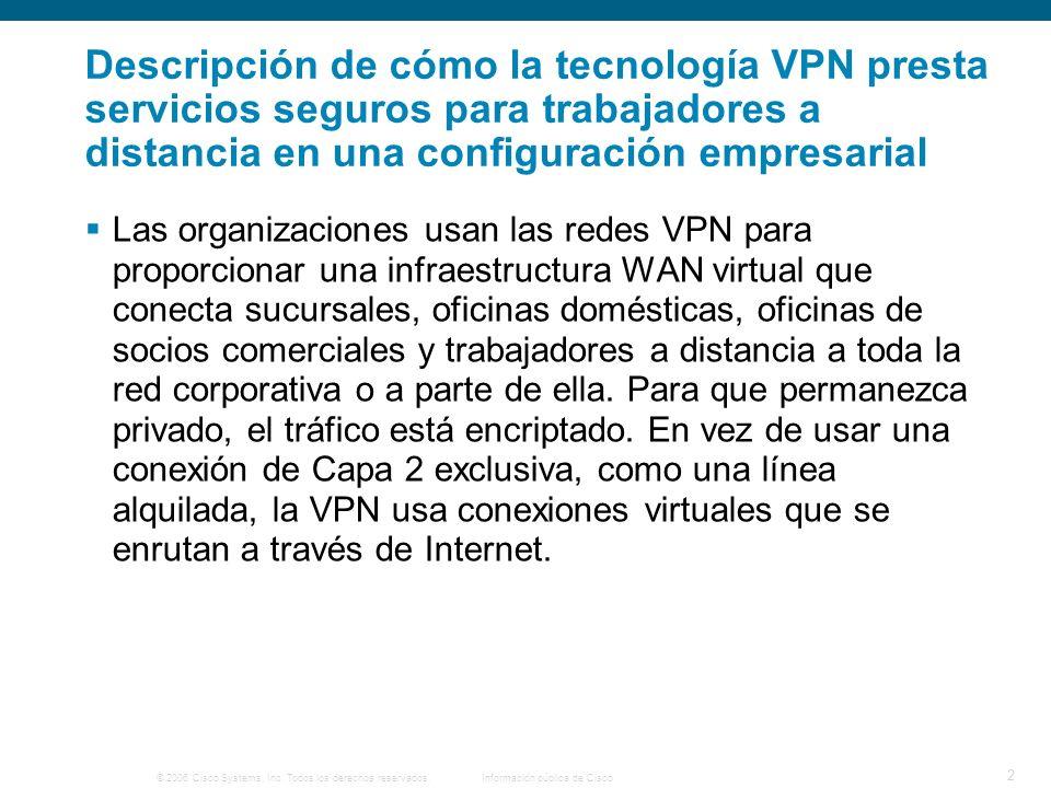 © 2006 Cisco Systems, Inc. Todos los derechos reservados. Información pública de Cisco 13