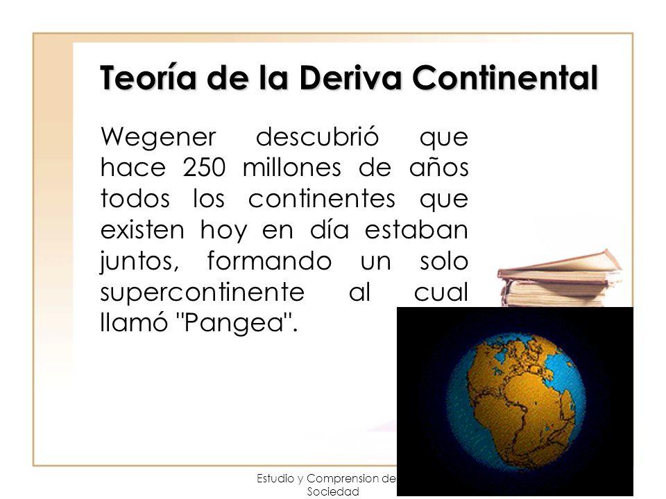 Teoría de la Deriva Continental Wegener descubrió que hace 250 millones de años todos los continentes que existen hoy en día estaban juntos, formando