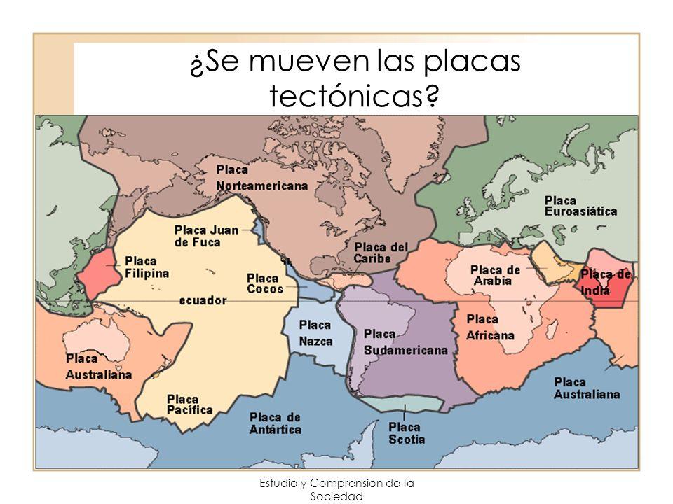 Estudio y Comprension de la Sociedad ¿Se mueven las placas tectónicas?