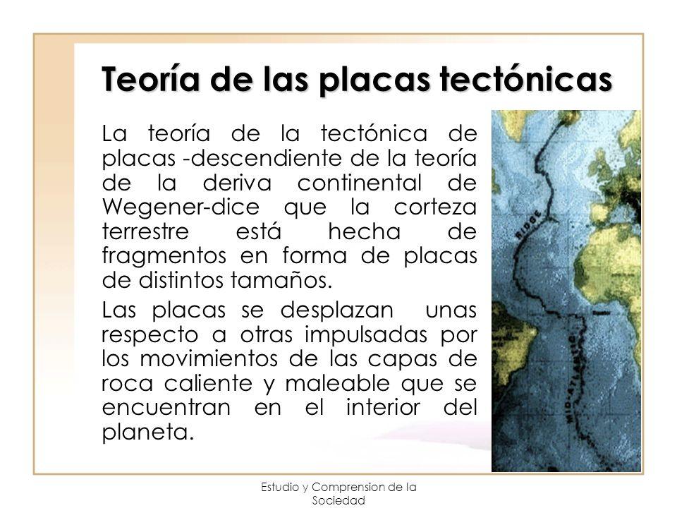 Estudio y Comprension de la Sociedad Teoría de las placas tectónicas La teoría de la tectónica de placas -descendiente de la teoría de la deriva conti